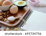 keto  ketogenic diet  low carb  ... | Shutterstock . vector #695734756