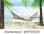 Summer Beach Relax With Hammoc...