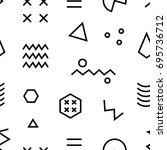 retro memphis seamless pattern. ... | Shutterstock .eps vector #695736712