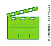 film clap board cinema sign.... | Shutterstock .eps vector #695741116