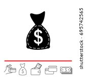 bag with money icon. vector...