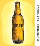 vector image of a beer bottle...   Shutterstock .eps vector #695750326
