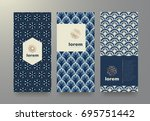 vector set packaging templates... | Shutterstock .eps vector #695751442