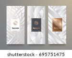 vector set packaging templates... | Shutterstock .eps vector #695751475