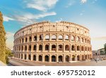 colosseum back view at pre... | Shutterstock . vector #695752012