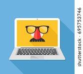 internet privacy  online... | Shutterstock .eps vector #695753746
