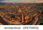 aerial  panoramic view on... | Shutterstock . vector #695754052