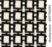 seamless textile doodle pattern ... | Shutterstock . vector #695756092