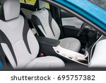 interior of the new car with... | Shutterstock . vector #695757382