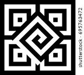 illusive tile with black white... | Shutterstock .eps vector #695763472