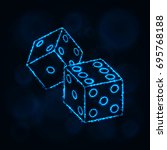 dice icon. two game dices ... | Shutterstock .eps vector #695768188