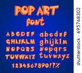 pop art comics style alphabet... | Shutterstock .eps vector #695768302