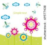 vector illustration. dragonfly...   Shutterstock .eps vector #69577438