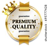 premium quality banner with... | Shutterstock . vector #695777428