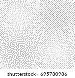 vector labyrinth maze. seamless ... | Shutterstock .eps vector #695780986