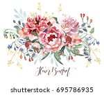 flower bouquet | Shutterstock . vector #695786935