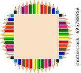 color pencils set vector...