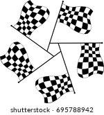 race flag various designs ...   Shutterstock .eps vector #695788942