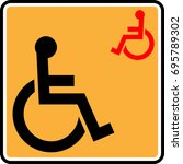 access icon  disabled handicap...   Shutterstock .eps vector #695789302