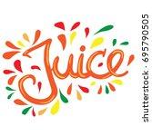 hand written lettering word... | Shutterstock .eps vector #695790505