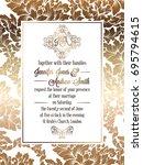 vintage baroque style wedding... | Shutterstock . vector #695794615