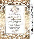 vintage baroque style wedding... | Shutterstock . vector #695794666