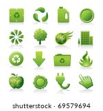 ecology icon set   Shutterstock .eps vector #69579694