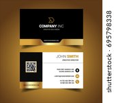 golden creative business card | Shutterstock .eps vector #695798338