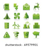 ecology icon set | Shutterstock .eps vector #69579901