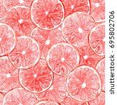 seamless watercolor pattern... | Shutterstock . vector #695802706