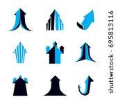 business financial trend ... | Shutterstock .eps vector #695813116