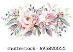 flower bouquet | Shutterstock . vector #695820055