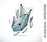 3d engineering vector backdrop  ... | Shutterstock .eps vector #695823388