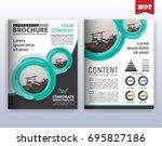 multipurpose modern corporate... | Shutterstock .eps vector #695827186