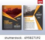 multipurpose modern corporate... | Shutterstock .eps vector #695827192