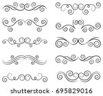 decorative design divider... | Shutterstock .eps vector #695829016