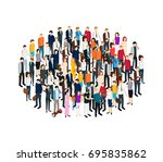 people set man and woman... | Shutterstock .eps vector #695835862
