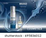 cosmetic package ads template.... | Shutterstock .eps vector #695836012