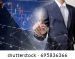 profit graph of stock market... | Shutterstock . vector #695836366