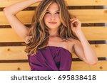 beautiful woman | Shutterstock . vector #695838418