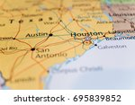 texas on the map | Shutterstock . vector #695839852