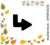 web line icon. arrow up   right   Shutterstock .eps vector #695842636