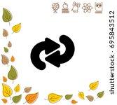 web line icon. circular arrows   Shutterstock .eps vector #695843512