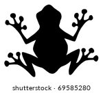 Frog Black Silhouette