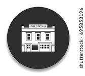 fire station icon | Shutterstock .eps vector #695853196