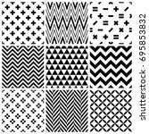 set of abstract geometric... | Shutterstock .eps vector #695853832