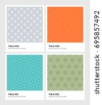 seamless vector pattern... | Shutterstock .eps vector #695857492