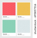 seamless vector pattern... | Shutterstock .eps vector #695857516