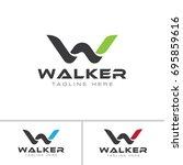 w letter logo | Shutterstock .eps vector #695859616