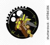 stylized vinyl lp record  high...   Shutterstock .eps vector #69586186